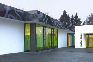 Glass painting for the parapet Doberg Museum in Bünde