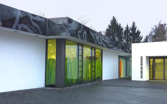 Glass painting for the parapet, Doberg Museum in Bünde