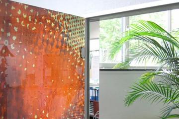 Full glass door for an office