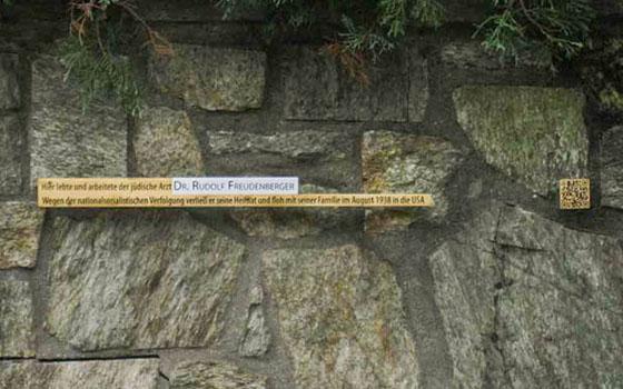 Memorial Plaque for Dr. Rudolf Freudenberger
