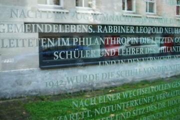 Memorial Plaque, Philanthropin