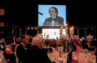 28. Verleihung in der Alten Oper, Frankfurt am Main, 2008, Eröffnungsansprache vom Präsidenten des Wirtschaftsclubs Rhein-Main und Initiator der Auszeichnung