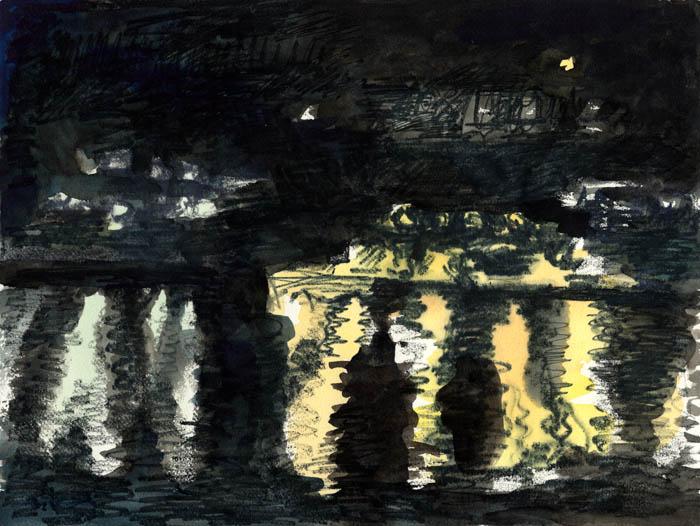 Nacht über Theben