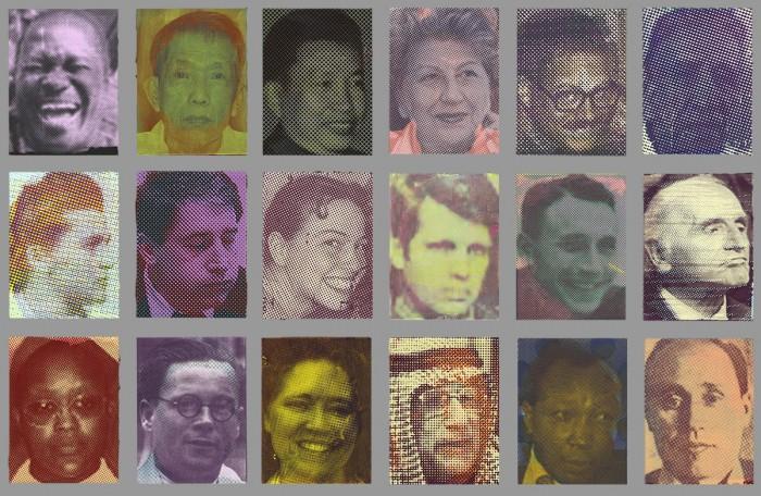 18 Porträts interideologischer Verbrecher*innen