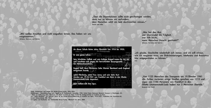 Die Gedenktafel Julius Flörsheim