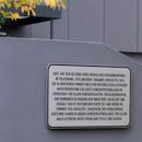 Gedenktafel Studentenwohnheim