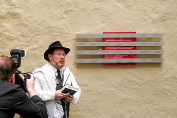 Gedenktafel für die Jüdische Gemeinde Bergen-Enkheim