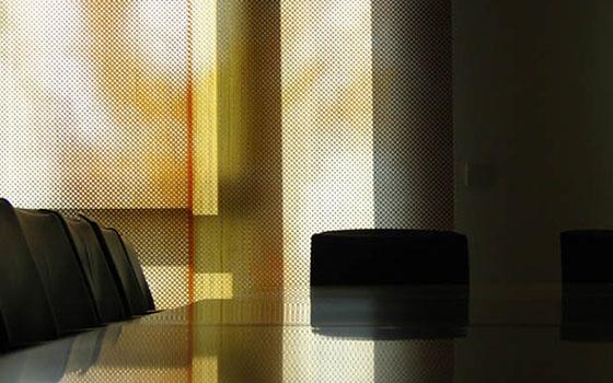 Glasschiebewand für einen Konferenzraum