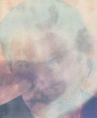 Dr. Ernst Gloede <br> 1996, Tafelbild 46 x 38 cm, <br>Dr.Gloede
