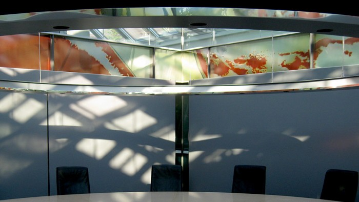 Glasfries, Architekturbezogene Glasmalerei