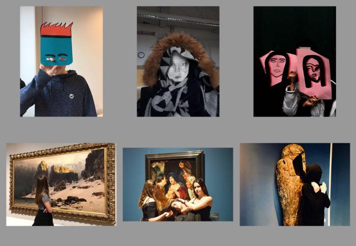 Schüler-Selfies der Foto-AG von Beatrice Grimm