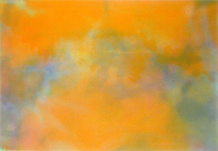 Tafelbild O.T. Strahlenbildlandschaft, 2003