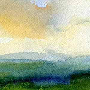 Papierarbeiten Kategorie Landschaften